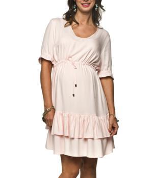 Těhotenské šaty světle růžové
