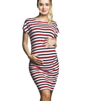 Těhotenské šaty pruhované
