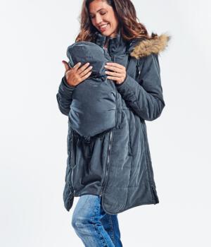 Těhotenská zimní bunda nosící 3 v 1